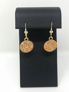 B-JWLD Gold Dangling Crystal Pendent Earrings