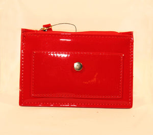 Sondra Roberts Red Nappa Change Purse