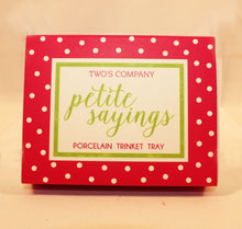 Load image into Gallery viewer, Petite Sayings Trinket Tray - Being Happy
