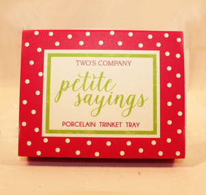 Petite Sayings Trinket Tray - Being Happy