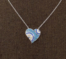 Load image into Gallery viewer, Style by Sophie Blue Heart Necklace