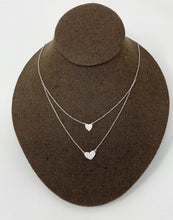 Load image into Gallery viewer, Style by Sophie Double Heart Layered Necklace - Silver Tone