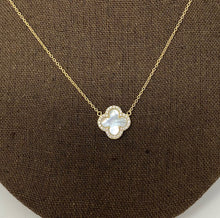 Load image into Gallery viewer, Style by Sophie Mother of Pearl Clover Necklace in Yellow Gold Finish