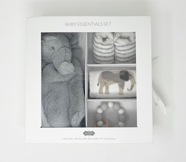 Baby Essentials Gift Set - Gray Elephant