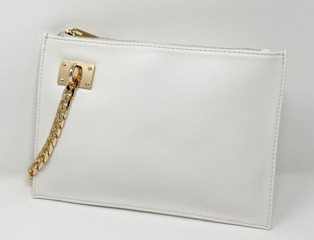 Sondra Roberts Clutch/Wristlet in White