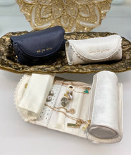 "Load image into Gallery viewer, ""Oh So Chic"" Jewelry Roll - Navy"
