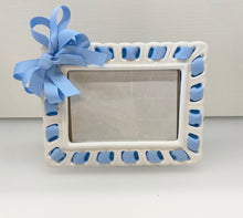 Load image into Gallery viewer, Prissy Plates Frame with Light Blue Ribbon