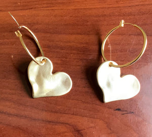 B-JWLD Solid Heart Earrings (Gold Finish)