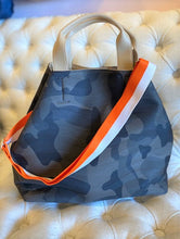 Load image into Gallery viewer, Sondra Roberts Camo Tote with a Citrus Summer Strap