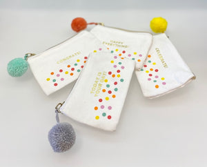 Pom Zippered Coin Purse/Gift Card Holder