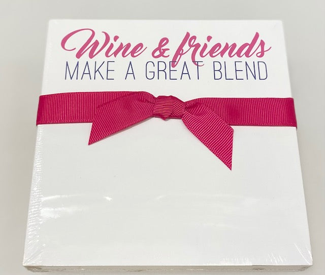 Luxe Note Pad - Wine & Friends Make A Great Blend