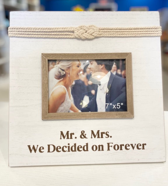 Mr. & Mrs. We Decided on Forever Photo Frame