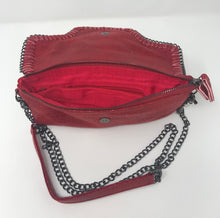 Load image into Gallery viewer, Sondra Roberts Red Crossbody With Link Chain
