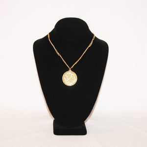B-JWLD Large Gold Pendant Necklace