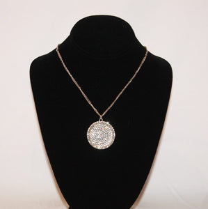 B-JWLD Large Silver Pendant Necklace