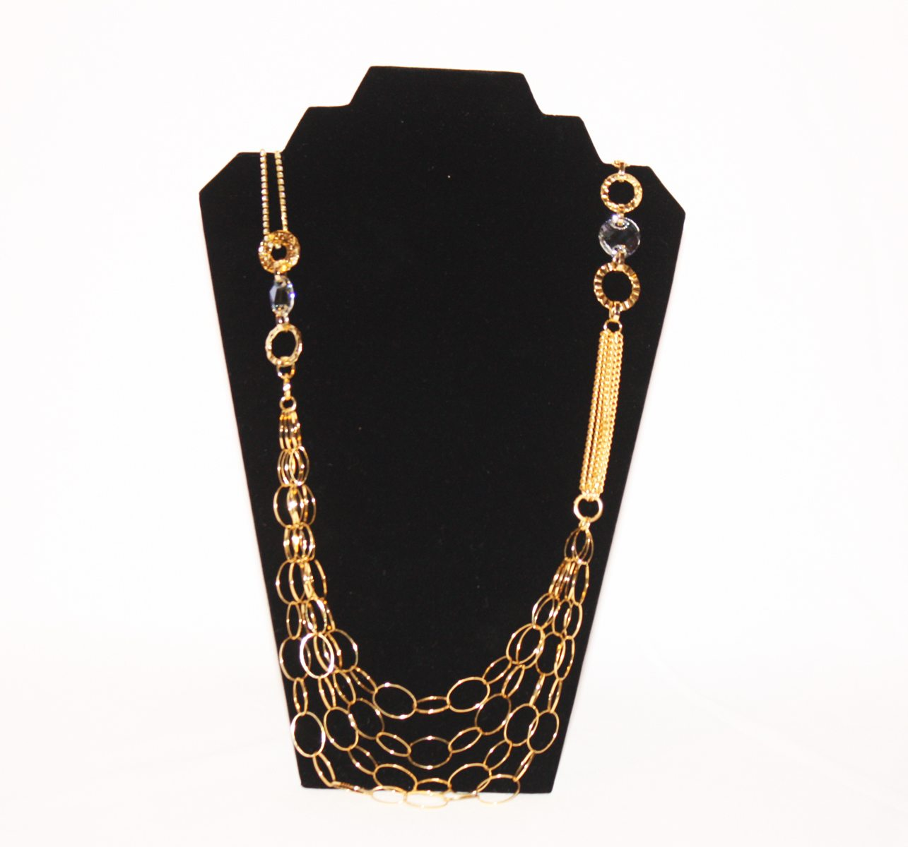 B-JWLD Long Gold Intertwined Necklace