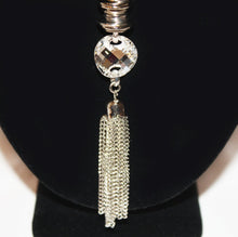 Load image into Gallery viewer, B-JWLD Long Silver Tassel Necklace