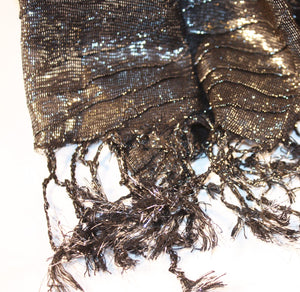 Metallic Charcoal Scarf