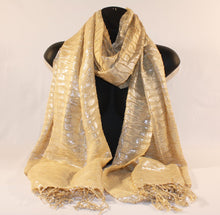 Load image into Gallery viewer, Metallic Gold Scarf