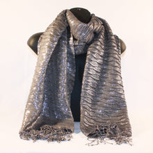 Load image into Gallery viewer, Metallic Silver Scarf