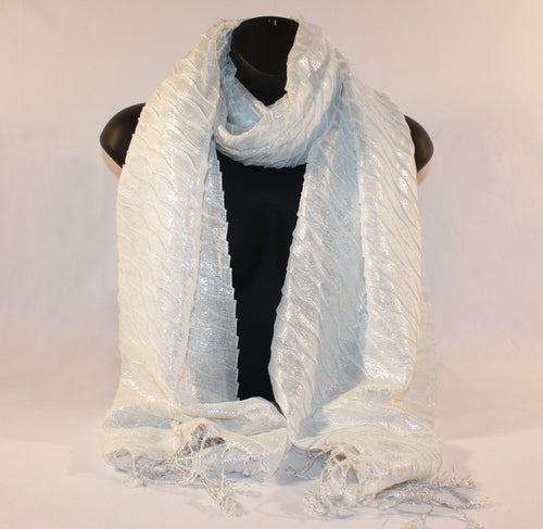 Metallic White Scarf