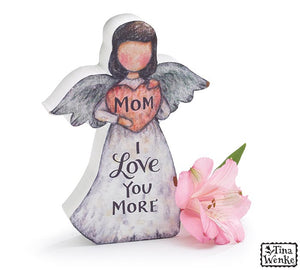 """Mom I Love You More"" Angel Figurine"