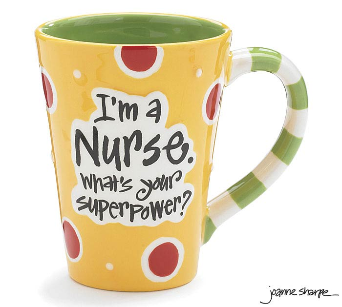 Nurse Superpower Ceramic Mug