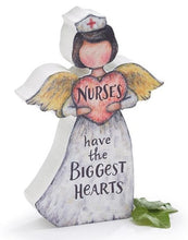 "Load image into Gallery viewer, ""Nurses have the biggest hearts"" figurine"