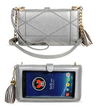 Load image into Gallery viewer, Save the Girls Cell Phone Purse - Allure (Pewter)