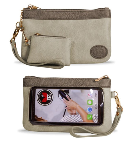Save the Girls Cell Phone Purse/Crossbody - Catchy Clutch (Latte Mist)