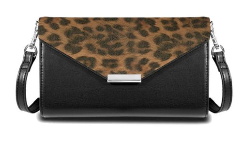 Save the Girls Cell Phone Purse - Timeless (leopard flap)