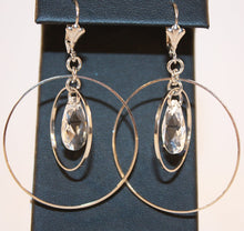 Load image into Gallery viewer, B-JWLD Silver Dangling Hoops