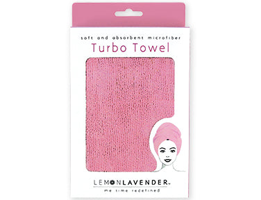 Lemon Lavender™ Turbo Towel -  Think Pink