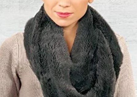 Gray Lavello Posh Plush Scarf