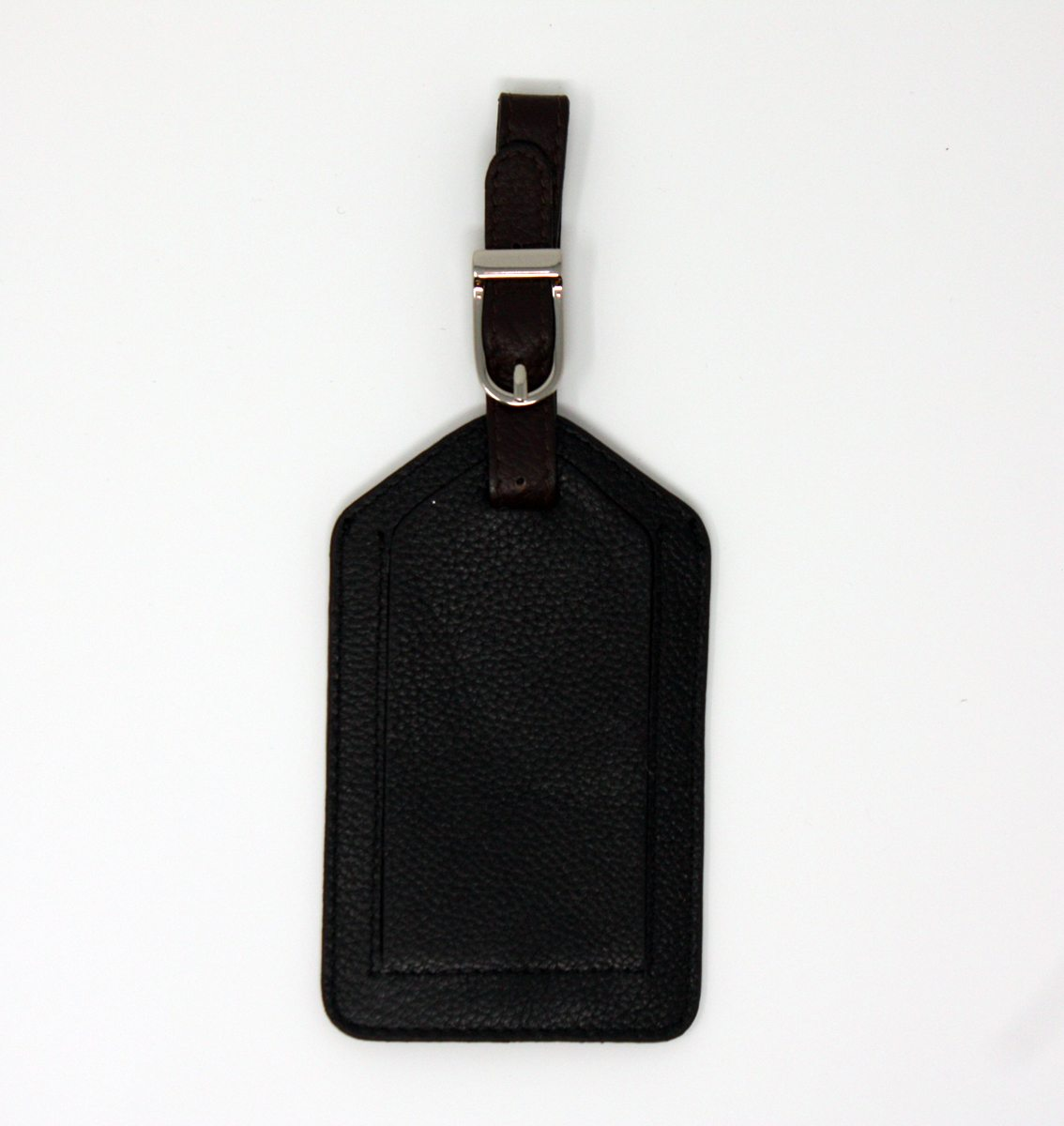 Genuine Black Leather Tag