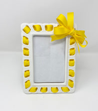 Load image into Gallery viewer, Prissy Plates Frame with Yellow Ribbon