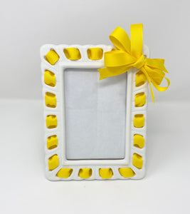 Prissy Plates Frame with Yellow Ribbon