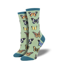 Load image into Gallery viewer, Women's Majestic Butterfly Socksmith Socks