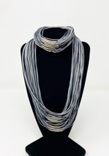 Load image into Gallery viewer, B-JWLD Silver/Grey Tones Corded Necklace