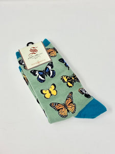 Women's Majestic Butterfly Socksmith Socks