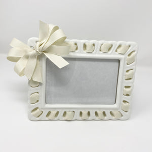 Prissy Plates Frame with Ivory Ribbon