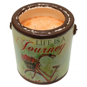 "Farm Fresh ""Life is a Journey"" Candle by a Cheerful Giver"