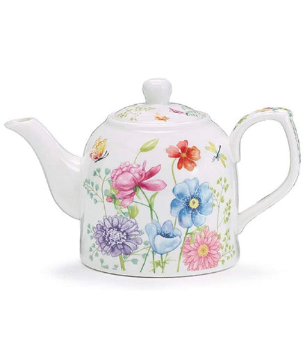 Mixed Blooms Ceramic Teapot