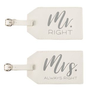 Mr. & Mrs. Luggage Tags