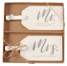 Load image into Gallery viewer, Mr. & Mrs. Luggage Tags