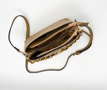 Load image into Gallery viewer, Sondra Roberts Squared Crossbody w/ Tortoise Shell Chain - Taupe