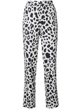 Load image into Gallery viewer, Koche Leopard Print Straight Trousers
