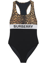 Load image into Gallery viewer, Burberry Logo and Leopard Print Swimsuit