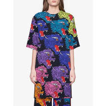 Load image into Gallery viewer, Gucci Panther Face Viscose Tunic Dress