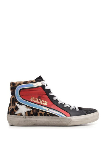 Deluxe Brand Leopard Print Slide High Top Sneakers